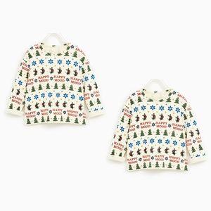 ⏰LAST CHANCE⏰ ZARA BabyBoy Soft Feel Holiday Tees